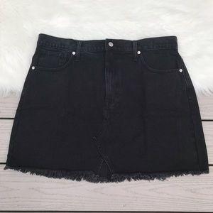 NWT Madewell Rigid Denim Cutout Edition Mini Skirt
